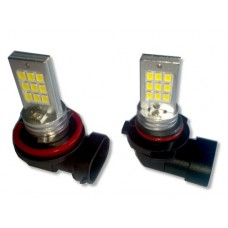 Par Lampada H8 18 Led Smd Cree 3535 5000k Bmw Angel Eyes