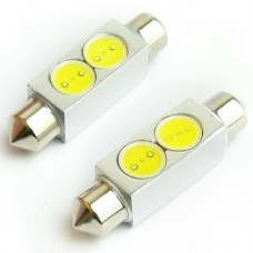 Lâmpada Torpedo Led Branca Cortesia Teto Placa 31 36 42mm