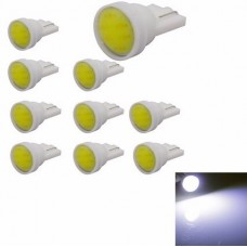 Kit 10 Lampadas Pingo T10 1 Led Cob 1w Farolete Teto Placa