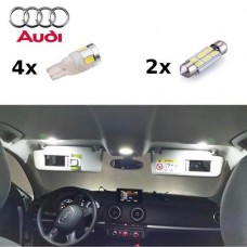 Kit Lampadas Led 5630 5000k Branco Natural Audi A3 A5 Teto