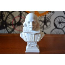 Escultura Busto William Shakespeare Po Marmore 11cm Italy