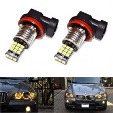 Par Lampadas H8 21 Led Cree 3535 Angel Eyes Bmw Amarelo